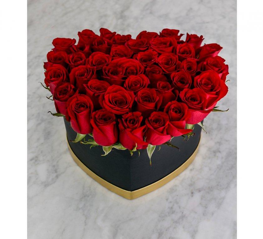 Bloom Box corazón de rosas