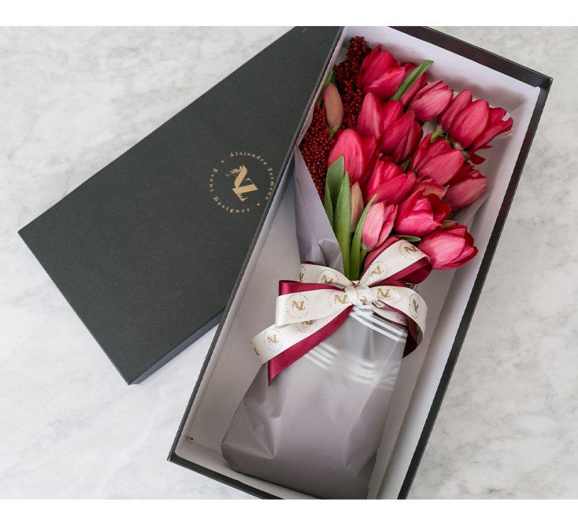 Love Box Tulipanes